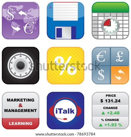 Multimedia Business Icons - stock vector