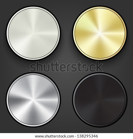 Multimedia buttons set - graphic design elements - stock vector