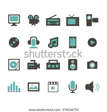 Multimedia Icon - stock vector