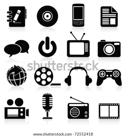 Multimedia icon. Vector - stock vector