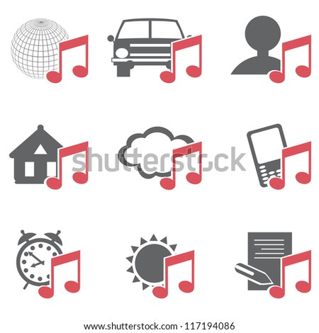 Multimedia Icons - stock vector