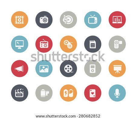 Multimedia Icons // Classics Series - stock vector