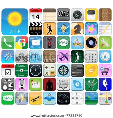 Multimedia Icons Set - stock vector