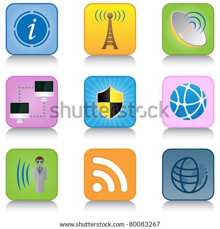 Multimedia Internet Icons - stock vector