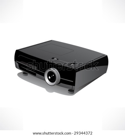 Multimedia projector. Vector. - stock vector