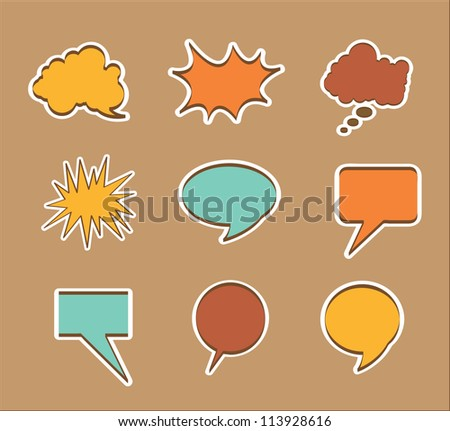 Multiple announcement of vintage colors. Vector Illustration - stock vector