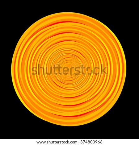 Multiple circle wave - warm color  - stock vector