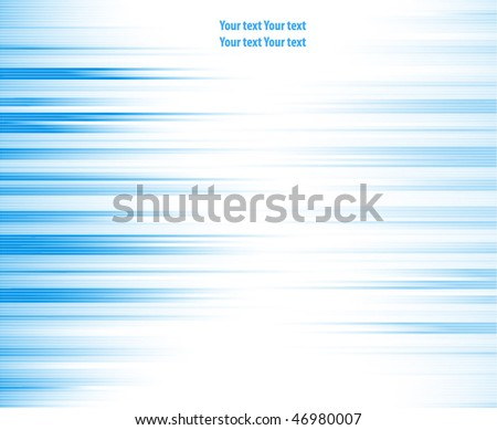 Multiple vector abstract horizontal blue lines - stock vector