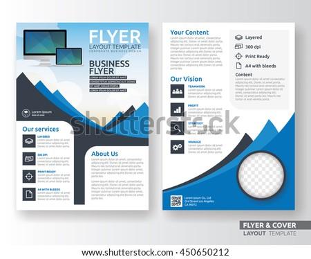 multipurpose corporate business flyer layout design stock vector