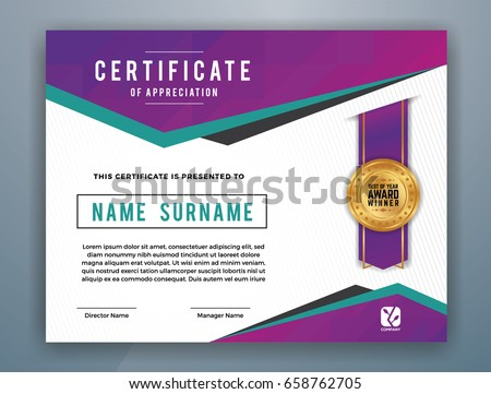 Multipurpose modern professional certificate template design stock multipurpose modern professional certificate template design for print vector illustration yadclub Images