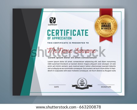 Multipurpose modern professional certificate template design stock multipurpose modern professional certificate template design for print vector illustration yadclub Image collections