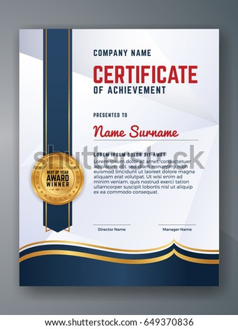 Certificate template luxury modern patterndiplomavector multipurpose professional certificate template design for print vector illustration yadclub Gallery