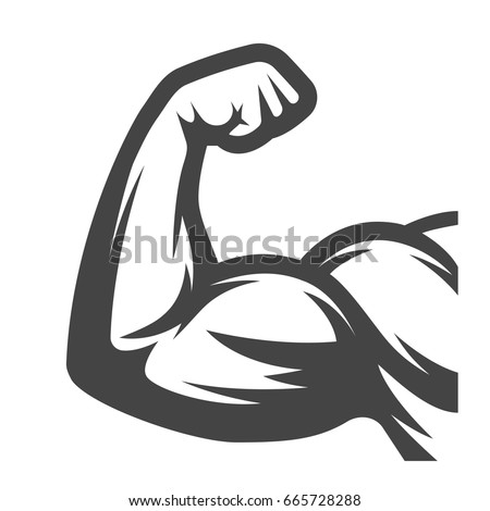 muscle arms biceps stock vector 665728288 - shutterstock