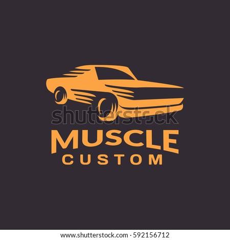 Muscle Car Logo Car Icon Auto Stock Vector Shutterstock - Muscle car repair
