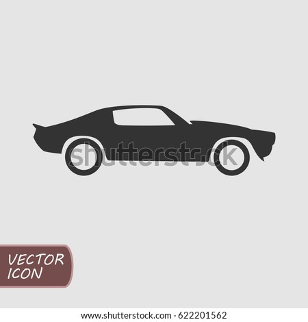 Muscle Car Vector Icon Stock Vector Shutterstock