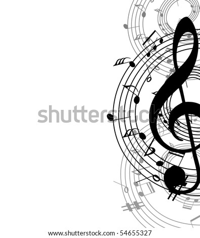 music abstract background - stock vector