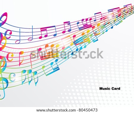 Music abstract background. - stock vector