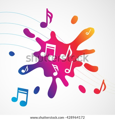 Music abstract colorful splash - stock vector