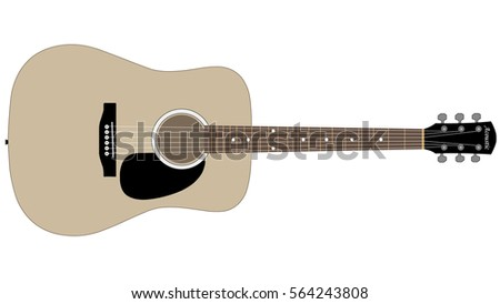 music acoustic guitar vector illustration isolated stock vector rh shutterstock com acoustic guitar headstock vector acoustic guitar vector silhouette