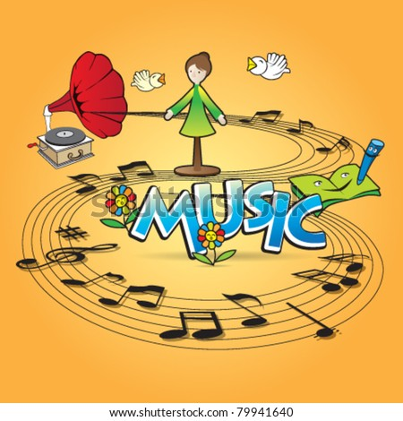 Music and Dance concept design - stock vector