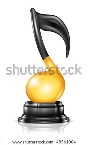 Music Award, vector - stock vector