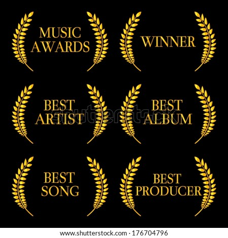 Music Awards Winners 2 - stock vector