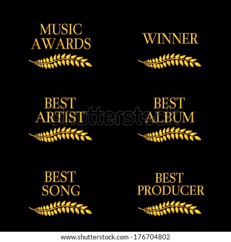 Music Awards Winners 4 - stock vector