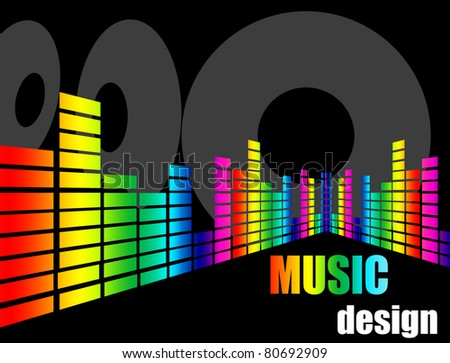 Music background design, vector illustration - stock vector