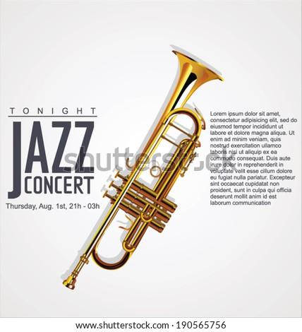 Music background - JAZZ concert - stock vector