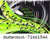 Music background vector - stock vector