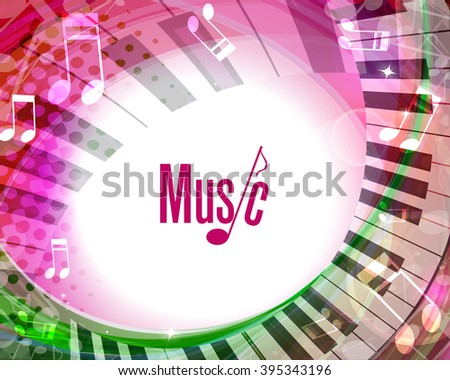Music background. Vector - stock vector