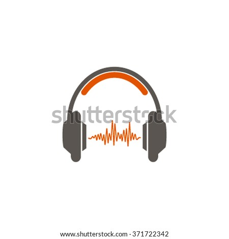 Music background with headphones and punches can be used as a banner, flyer, poster or background. vector - stock vector