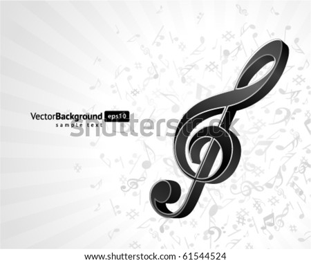 Music background with notes. Eps 10 - stock vector