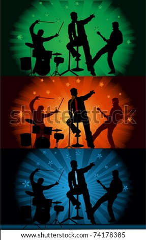 Music band - concert - stock vector