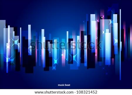 Music beat background - stock vector