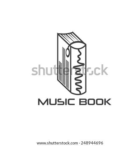 music book vector design template - stock vector