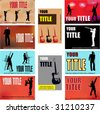 Music Business Cards - stock vector