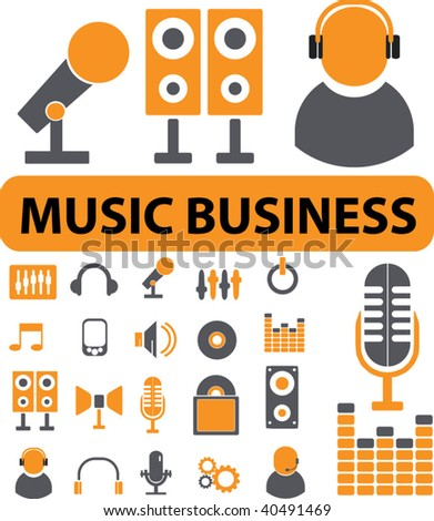 music business. vector - stock vector