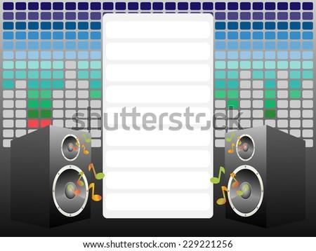 Music card - stock vector