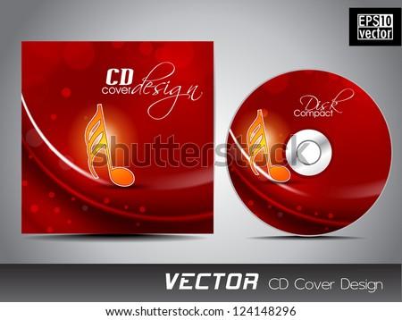 Music CD Cover design. EPS 10. - stock vector