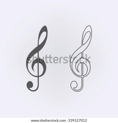 Music Clef icon . Vector illustration - stock vector