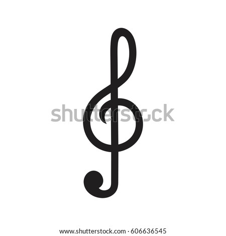 music clef music key vector icon stock vector 606636545 shutterstock