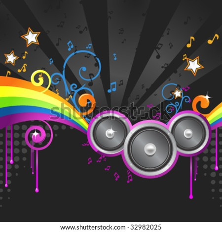 music colorful disco illustration