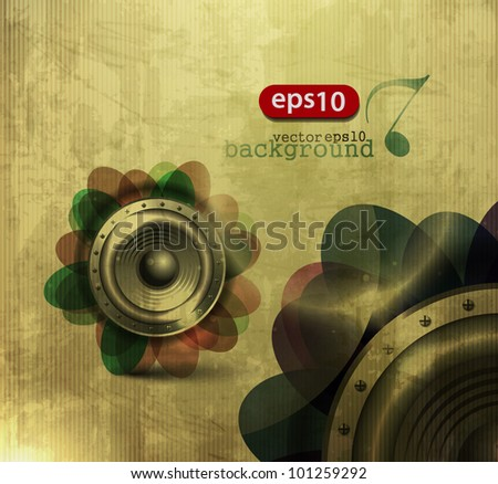 Music concept poster template. - stock vector