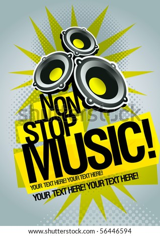 Music concept poster template. Elements are layered separately in vector file. Easy editable graphics. - stock vector