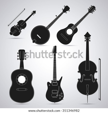Music concept with instrument icons design, vector illustration 10 eps graphic.