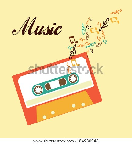 Music design over beige background,vector illustration
