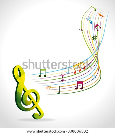 Music design, vector illustration eps 10.