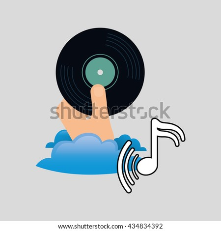 Music design. vinyl icon.  White background , vector