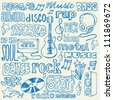 Music doodles vector - stock vector